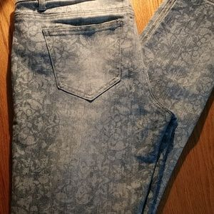 Vanilla Star Distressed Printed Low Rise Jeans